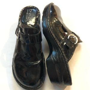 Boc born leather mule clogs size 8 black